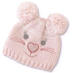 WonderKids Infant Girls' Winter Beanie Cap - Bear